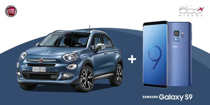 fiat 500 X Mirror + Samsung S9